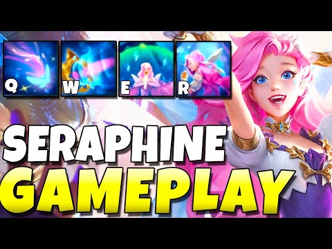 NEW CHAMPION SERAPHINE GAMEPLAY!!! IS SHE SONA 2.0?? - League of Legends