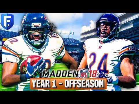 Madden 18 Bears Franchise | Year 1 FULL Offseason (NFL Draft/Free Agency)  Ep.19