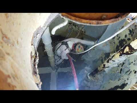 20k psi hydro-blasting in latex tank