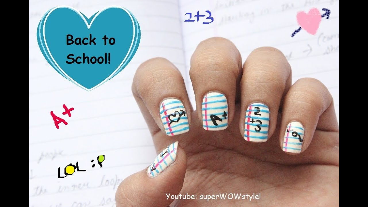 Cutepolish Back To School Nail Art Cutepolish