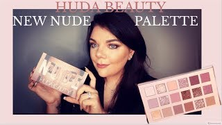 Huda Beauty  New Nude Palette Glam Makeup look