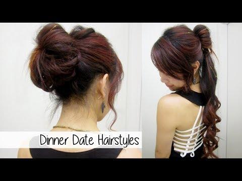 glamorous ponytail & bun updo l