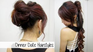 Glamorous Ponytail & Bun Updo l Cute Dinner Date Nights Hairstyles
