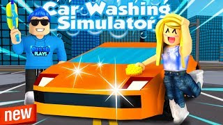 MY NEW ROBLOX GAME CAR WASHING SIMULATOR!! (Roblox) New Simulator Game
