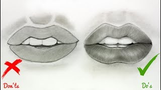 mouth easy drawing lips realistic draw step drawings tutorial getdrawings anime dos ts don paintingvalley