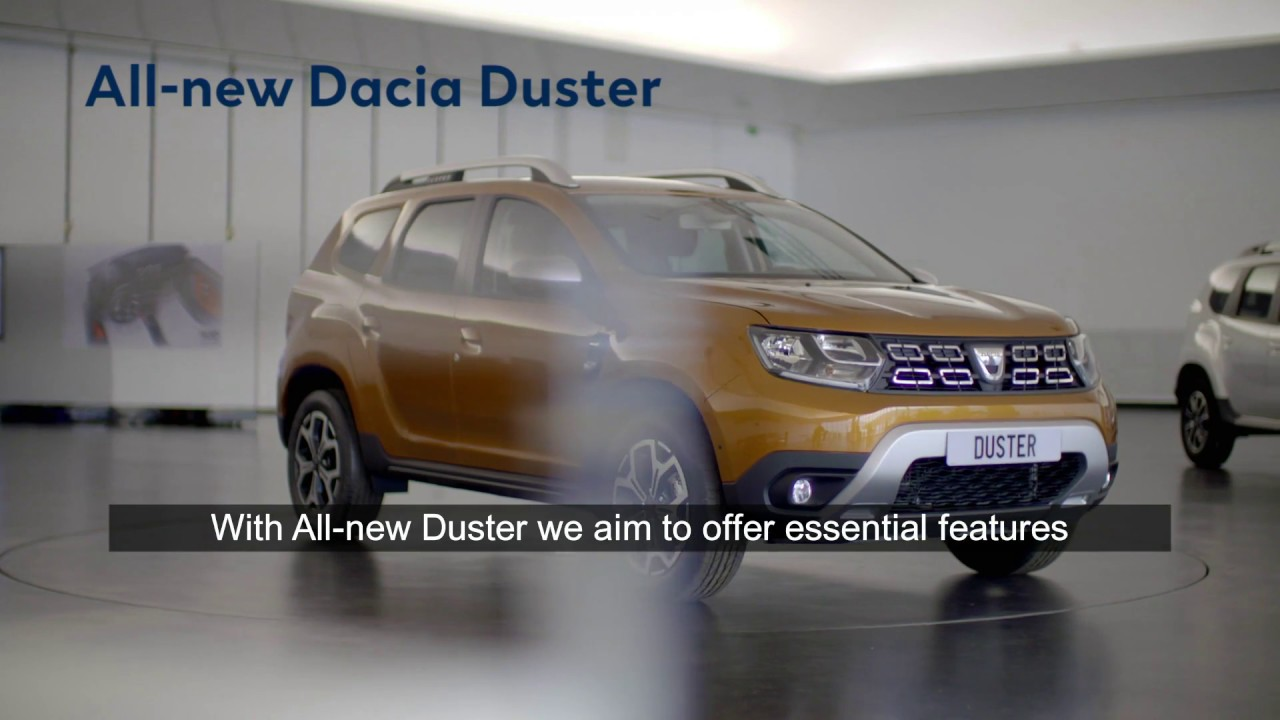 2017 all new dacia duster equipment youtube. Black Bedroom Furniture Sets. Home Design Ideas