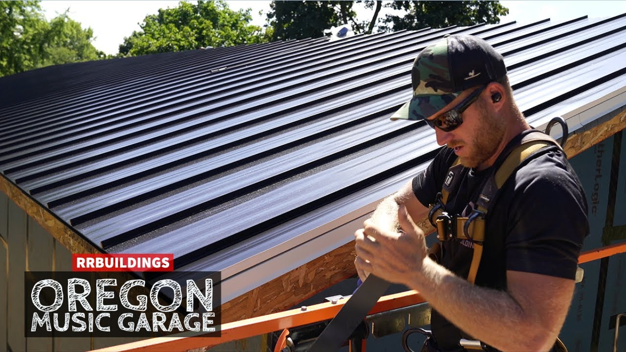 Oregon Music Garage: How to Install Snap Loc Standing Seam Metal Roofing