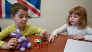 Урок английского в группе дошкольников. Ева - Матвей.