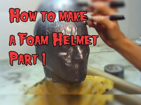 How To Make a Foam Helmet,Tutorial Part 1