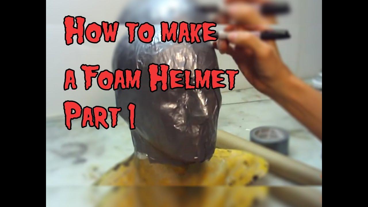 how to make a foam helmet tutorial part 1