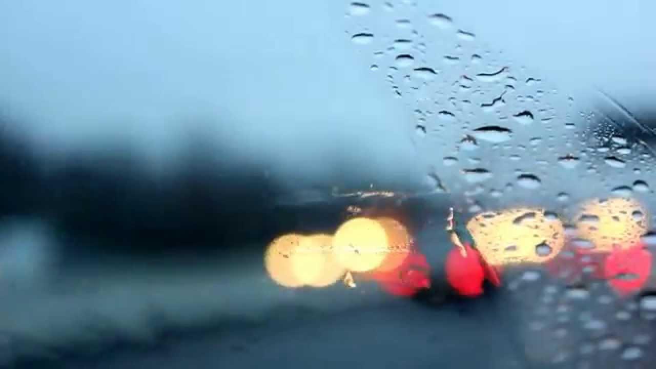 hd stock footage rain droplets on windshield public