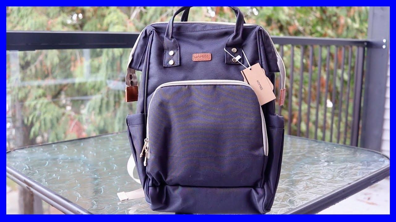 81b487116bf9 HOMIEE Diaper Backpack Bag Large Multi-Function Waterproof w USB ...
