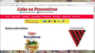 Datos Lotto Activo Pronostico Liderenpronosticos