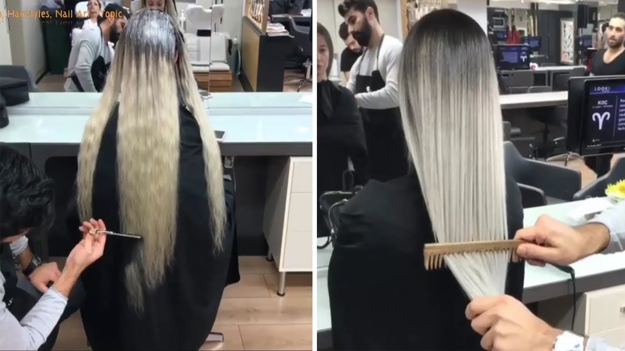NEW Hair Color Transformation 2018 - Amazing Long Hair Cutting ...