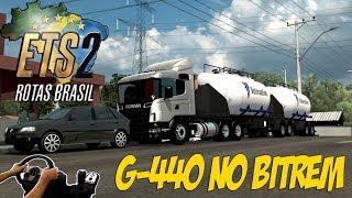 MAPA ROTAS BRASIL - SCANIA NO BITREM - GOL REBAIXADO NO POSTO - ETS2 MODS