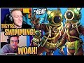 Streamers React to the *NEW* Deep Sea Destroyer & Dominator Skins! - Fortnite Moments