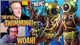 Streamers Réagir à la «NOUVEAU» Deep Sea Destroyer - Skins Dominator! - Moments Fortnite