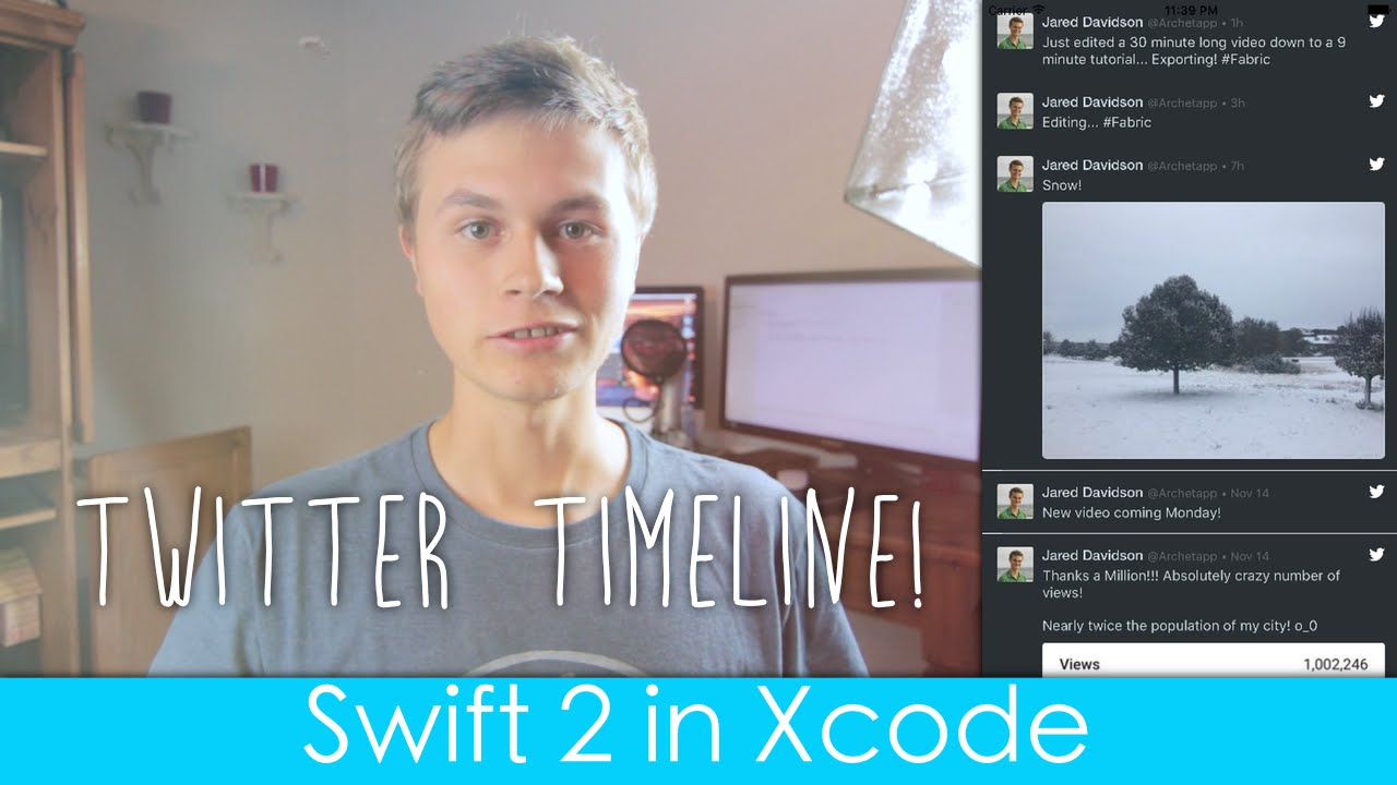 Display Twitter Timeline! (Fabric : Swift 2 in Xcode)