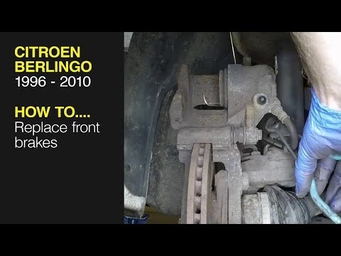 How to replace the front brake pads on a Citroen Berlingo / Peugeot Partner (1996-2010)