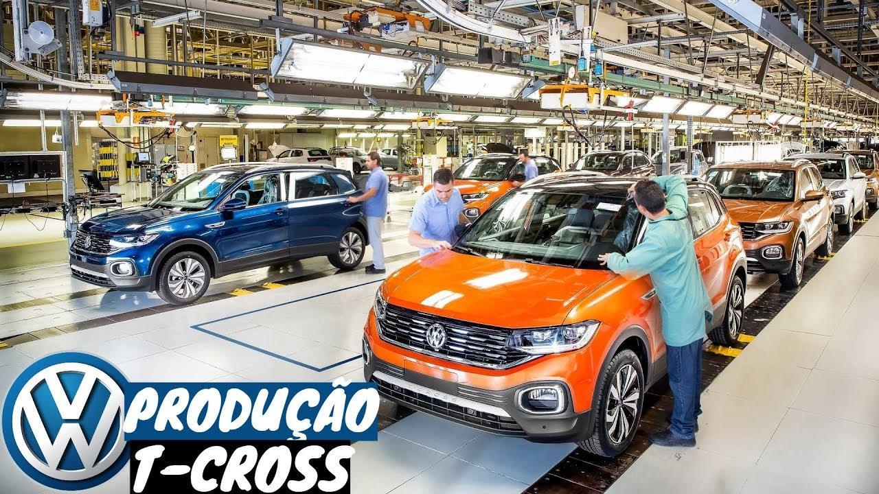volkswagen t-cross 2020 - linha de produ u00e7 u00e3o em s u00e3o jos u00e9 dos pinhais  pr