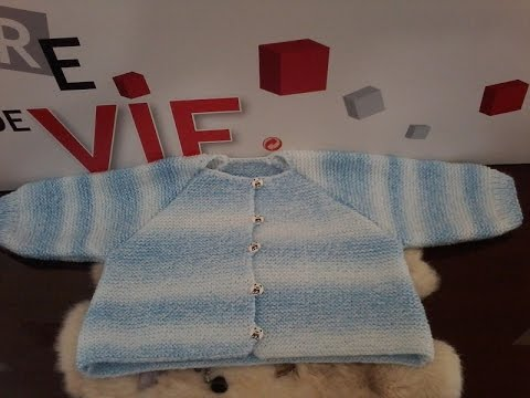 Super Tuto tricot gilet bébé . Tricoter un gilet pour bébé au point  HH84