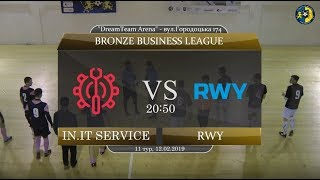 in.IT Service - RWY [Огляд матчу] (Bronze Business League. 11 тур)