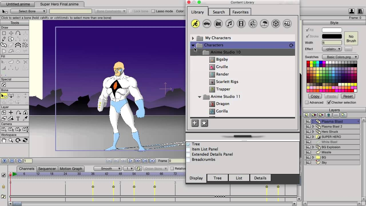 Buy Official Smith Micro Anime Studio Pro 7 Software