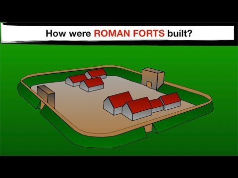 How were Roman Forts planned and built?