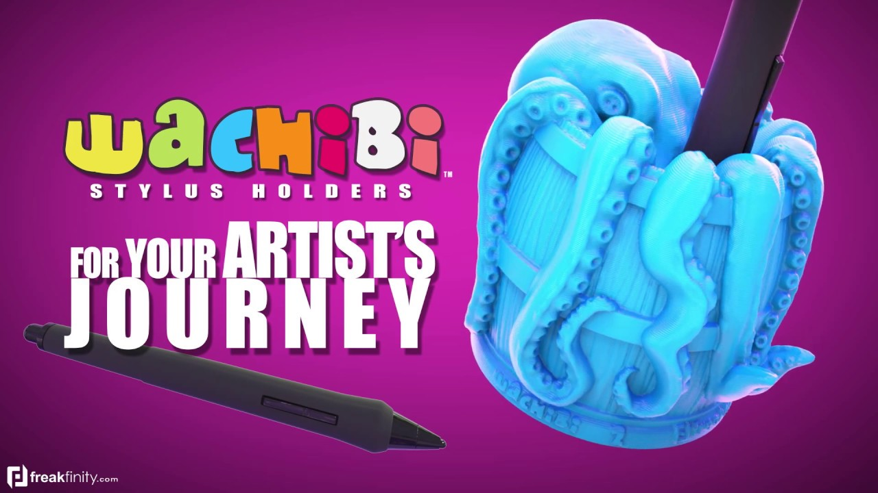 "Artist? Wachibi No.2: Octo'Barrel. For digital artists . ""Wacom, Huion, & Apple Pencil"""