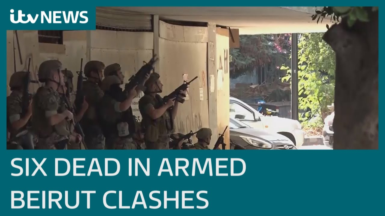 Download Beirut: Six dead as armed clashes erupt in Lebanese capital against judge leading probe | ITV News