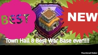 NEW CLASH OF CLANS TH8 WAR BASE 2018 THAT COVER WHOLE AREA |NEW TH8 BASE-CLASH OF CLANA 2018!!