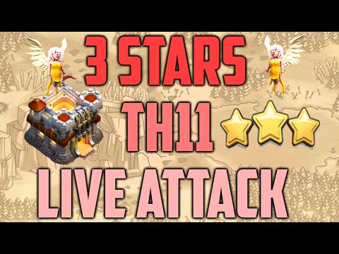 Clash of Clans - TH11 Live 3 Stars Attack: EPIC Healers Heal Everything!!