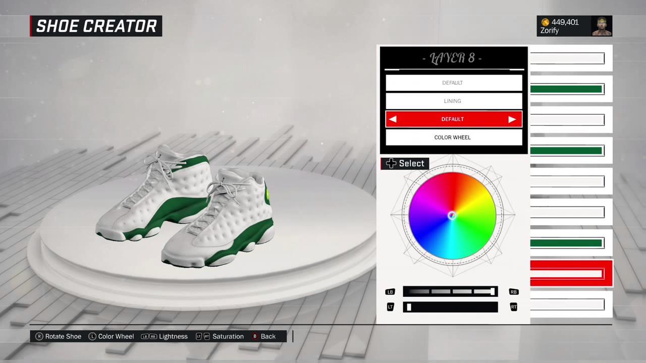 f59bad63e12 NBA 2K17 Shoe Creator - Air Jordan 13 PE