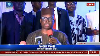 Fayose Boasts Of Achievement In Ekiti State
