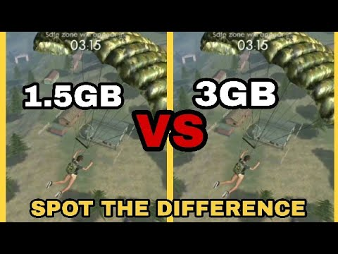 Free Fire-Battlegrounds In 3GB RAM VS 1.5GB RAM|Does It Makes Much Difference?