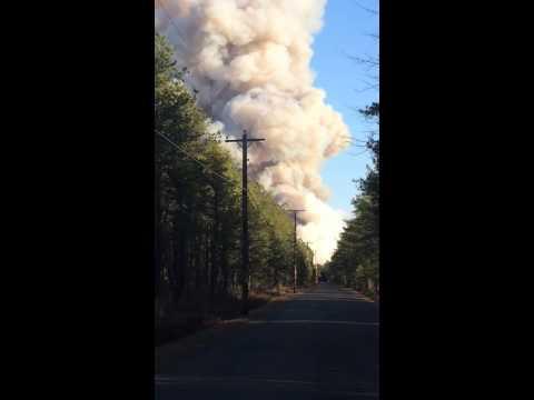 Tabernacle nj Forrest fire 3/15/2014