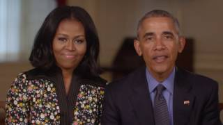 Repeat youtube video What's Next from Barack and Michelle Obama