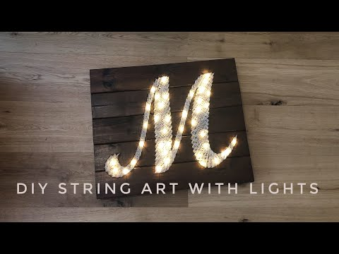 DIY String art with lights 🤩 Personal gift idea