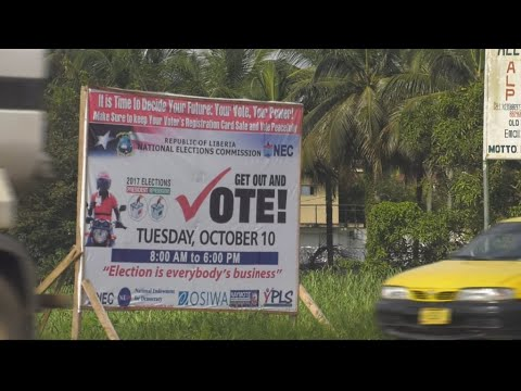 Liberia's presidential candidates on election homestretch