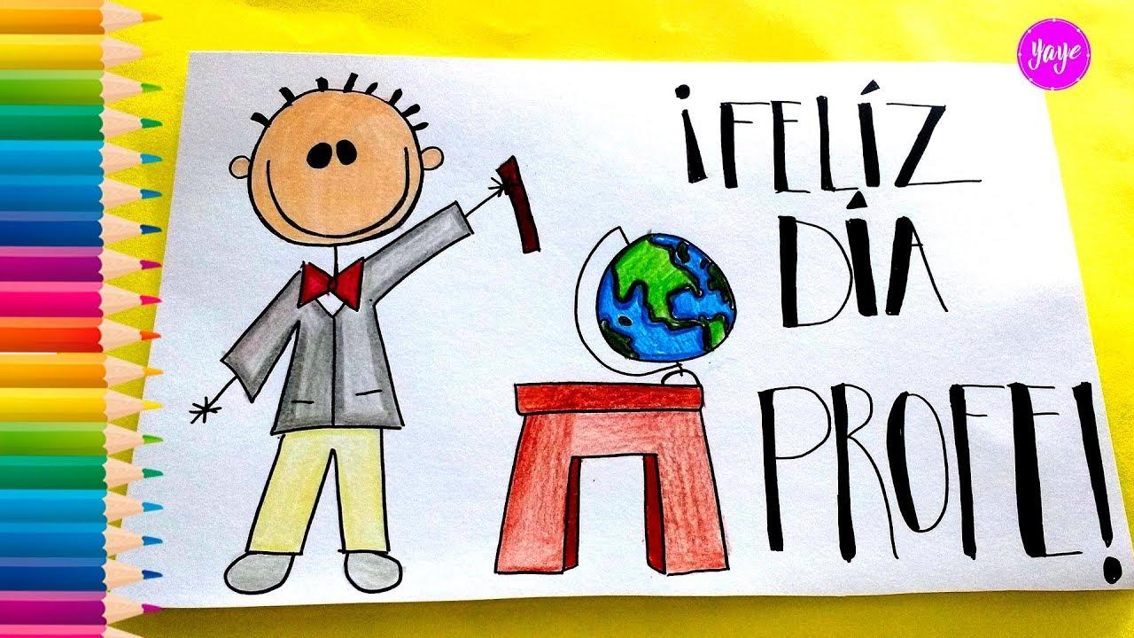 Ideas Hermosas Para Dibujar Tarjeta Día Del Maestro How To Draw A Card For Teachers Day Yaye