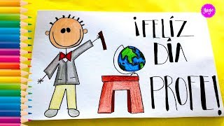 IDEAS HERMOSAS PARA DIBUJAR  TARJETA - DÍA DEL  MAESTRO - How to draw a card for Teacher