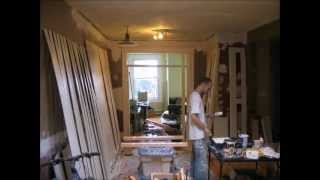 8x9' Bookshelf Painting And Construction Timelapse