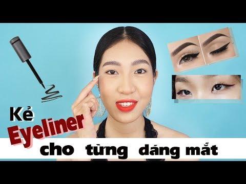 Hướng Dẫn Kẻ Eyeliner Cho Từng Dáng Mắt [Vanmiu Beauty]