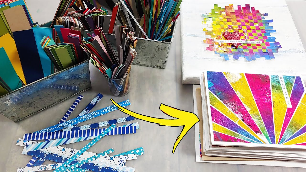 NOT TRASH! Clever ways to use PAPER SCRAPS...
