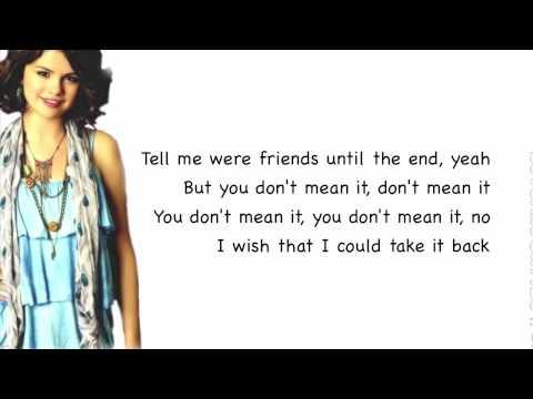 kiss n tell (lyrics) - Selena Gomez