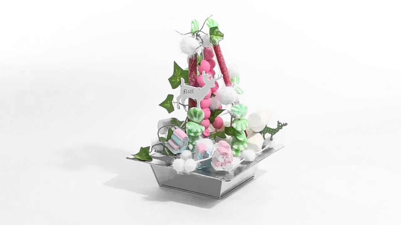 centre de table noel g teau de bonbons par candy youtube. Black Bedroom Furniture Sets. Home Design Ideas
