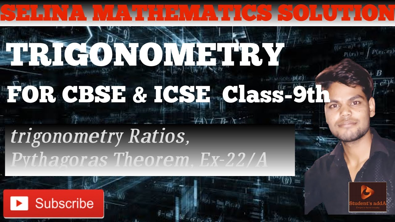 ICSE CLASS 9 CH:- 22/A TRIGONOMETRY|Icse Selina mathematics solutions