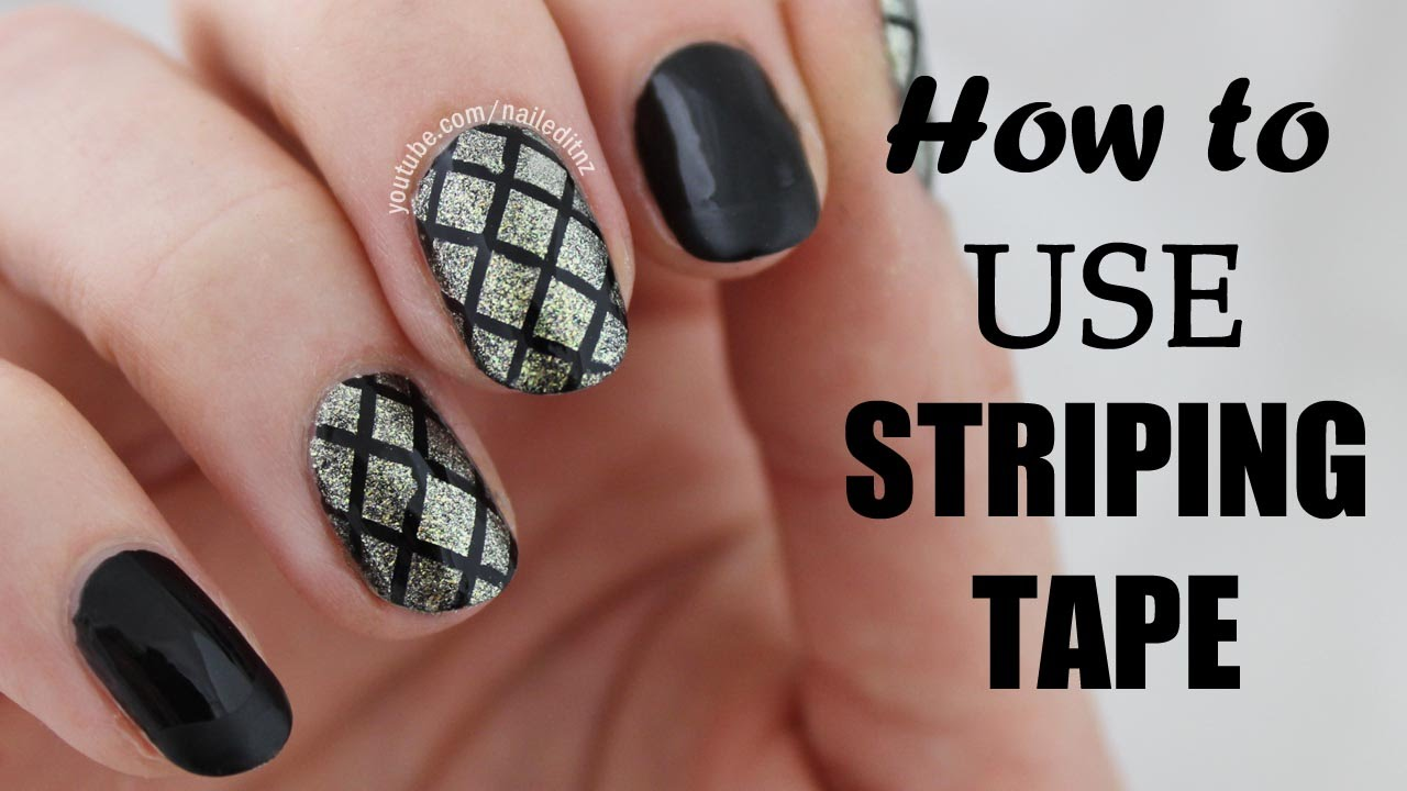 How To Use Striping Tape In Nail Art Nailed It Nz Youtube