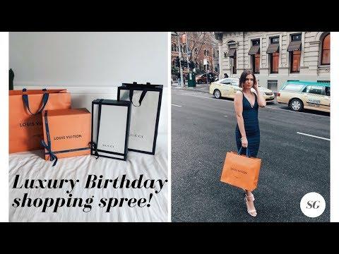 Vlog: Luxury birthday shopping spree | Louis Vuitton | Gucci + More!