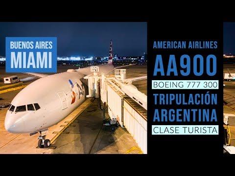 American Airlines AA900 Con Tripulación Argentina A Miami - Boeing 777-300